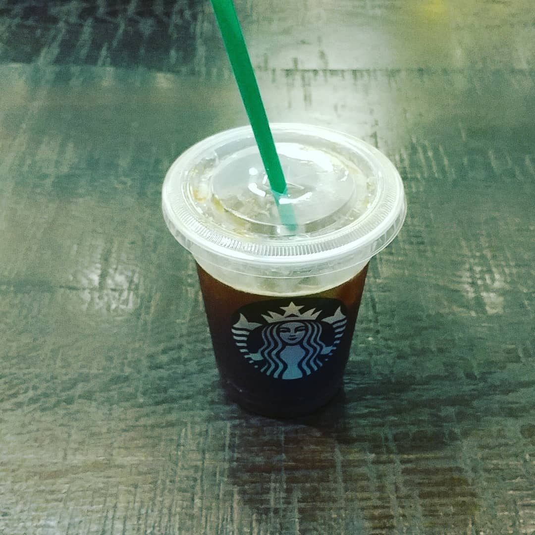Decided to try an iced Americano with blonde-roasted espresso instead of dark-roasted because of how many negative comments I have recently read about Starbucks' dark roasted espresso. I super do not like blonde espresso. I will stick to dark.