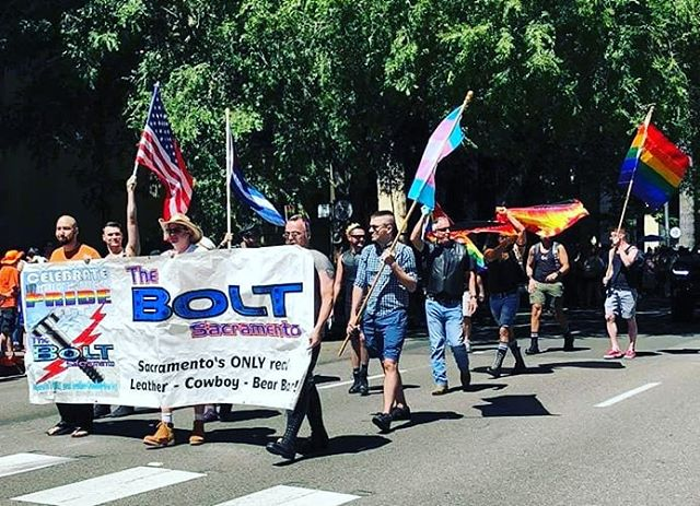 Marching in Sacramento Pride 2018 with The Bolt