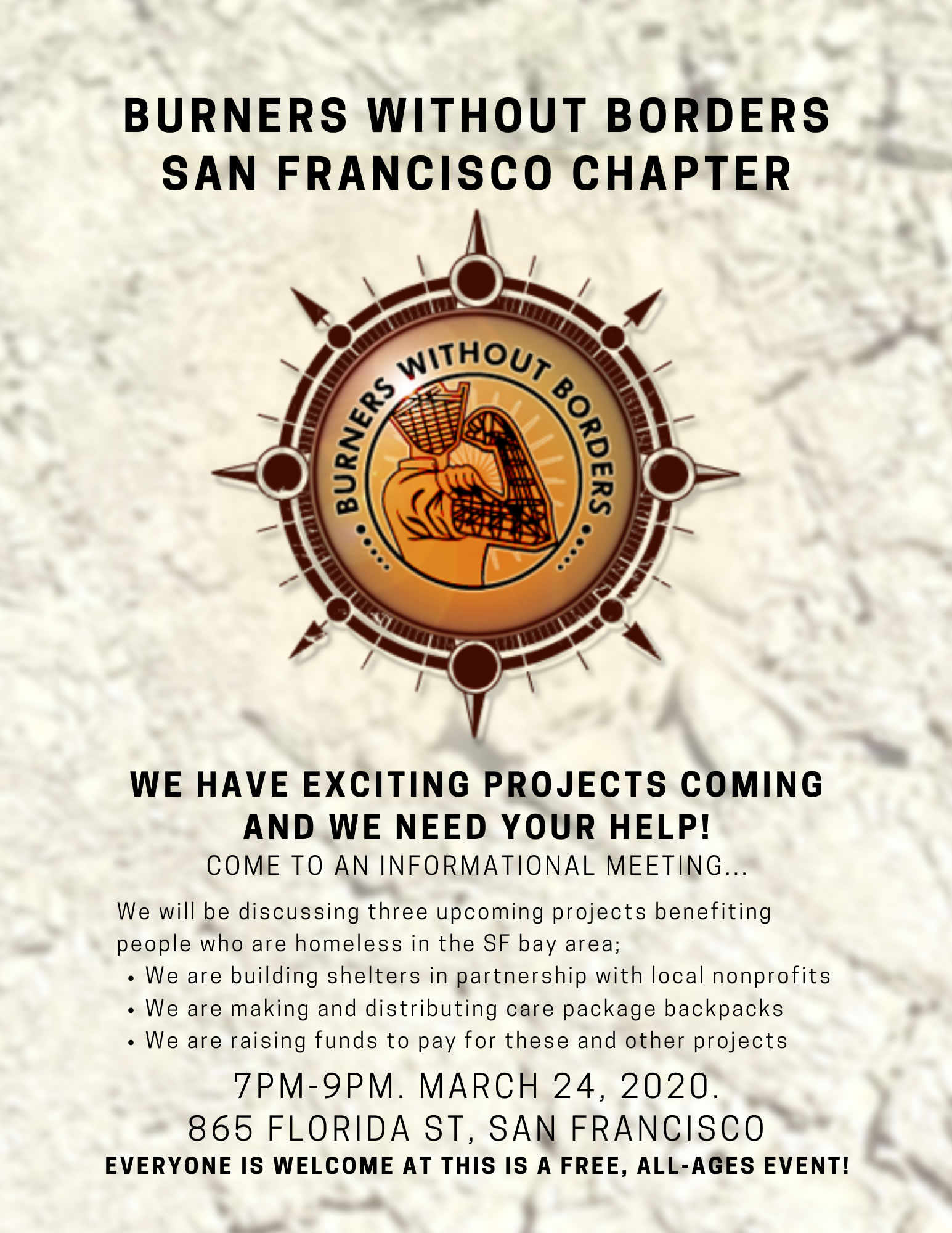 BWB/SF Informational Meeting Flyer
