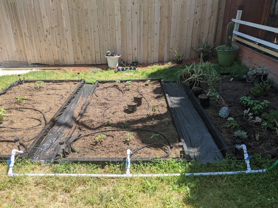 Raised Bed Gardens and Water Distribution
